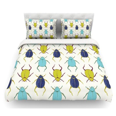 Beetles by Laurie Baars Featherweight Duvet Cover Size: Queen