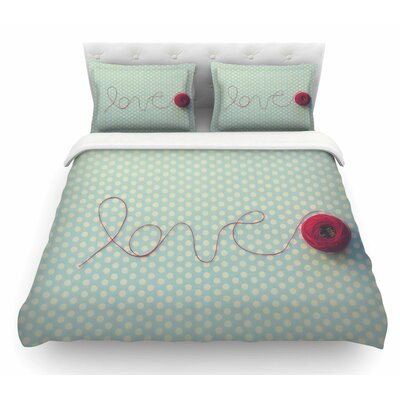 String of Love by Kristi Jackson Photography Featherweight Duvet Cover Size: King