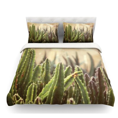 Grass Cactus by Jillian Audrey Featherweight Duvet Cover Size: Queen