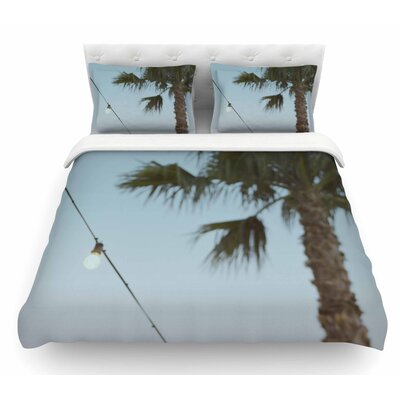 Summer Nights by Kristi Jackson Coastal Featherweight Duvet Cover Size: King