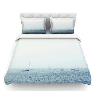 Harbor by Jillian Audrey Featherweight Duvet Cover Size: Twin