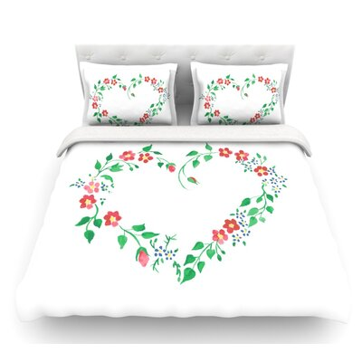 Heart by Louise Featherweight Duvet Cover Size: Twin, Fabric: Woven Polyester