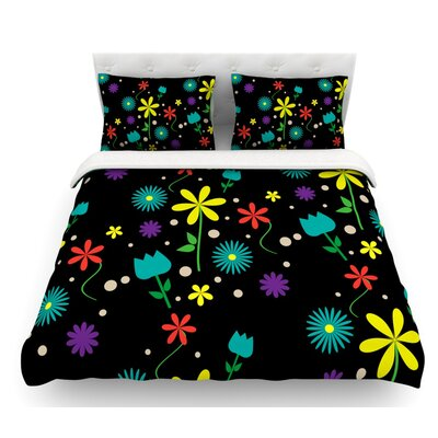 Flower I by Louise Featherweight Duvet Cover Size: Twin, Fabric: Woven Polyester