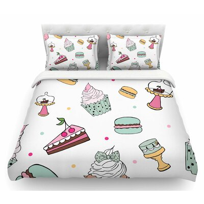 Sweet Sweet Cake by Louise Pastel Food Featherweight Duvet Cover Size: Twin