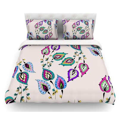 Leave by Louise Featherweight Duvet Cover Size: Twin, Fabric: Cotton
