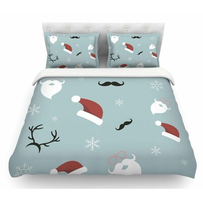 Happy New Year! by Louise Christmas Santa Featherweight Duvet Cover Size: King