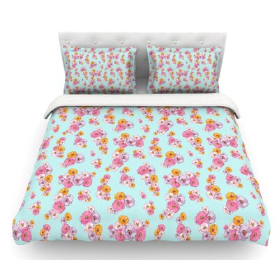 Paper Flower by Laura Escalante Featherweight Duvet Cover Size: Queen, Fabric: Lightweight Polyester