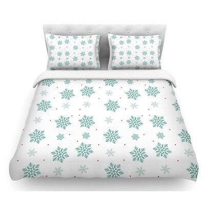 Snow by Louise Pastel Featherweight Duvet Cover Size: King