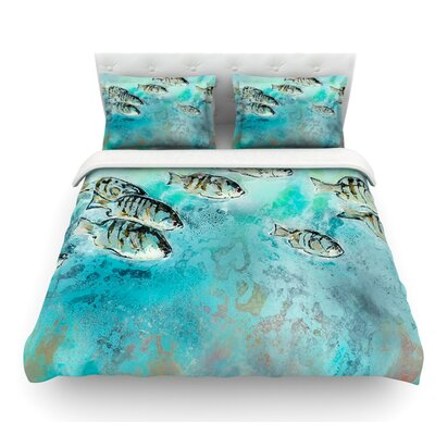 Surf Perch by Josh Serafin Featherweight Duvet Cover Size: Twin