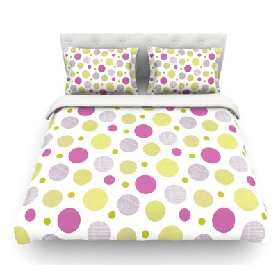 Rhapsody Dot by Julie Hamilton Featherweight Duvet Cover Size: Queen