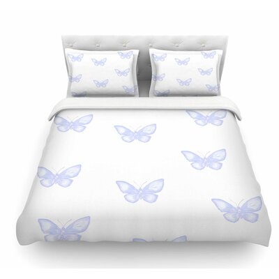 Many Butterflies by Jennifer Rizzo Featherweight Duvet Cover Size: King