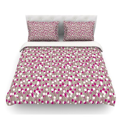 Wineberry by Julie Hamilton Featherweight Duvet Cover Size: Queen, Fabric: Cotton