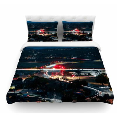 Chasing Lights by Just L Featherweight Duvet Cover Size: Twin