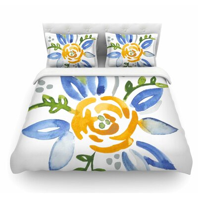 Buttercup by Jennifer Rizzo Floral Featherweight Duvet Cover Size: King