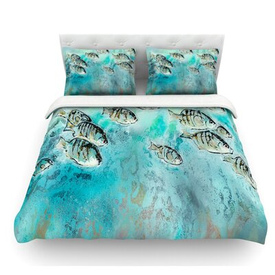 Perch Surfin by Josh Serafin Featherweight Duvet Cover Size: King, Fabric: Lightweight Polyester