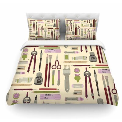 Art Supplies by Judith Loske Featherweight Duvet Cover Size: Queen