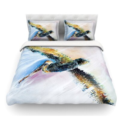 Overhead by Josh Serafin Pastel Bird Featherweight Duvet Cover Size: Twin