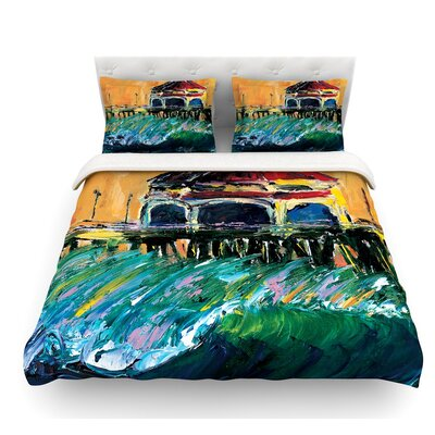 Offshore Beauty by Josh Serafin Coastal Featherweight Duvet Cover Size: Twin
