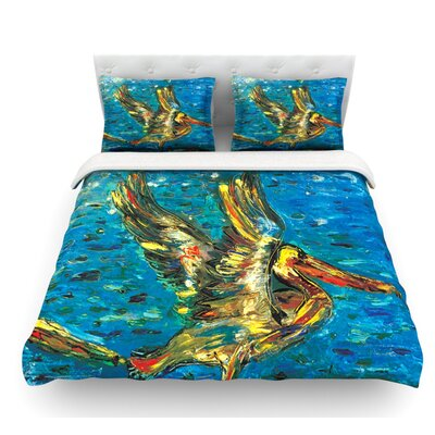 Seabirds by Josh Serafin Featherweight Duvet Cover Size: Queen, Fabric: Woven Polyester