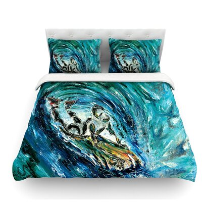 Sponge by Josh Serafin Featherweight Duvet Cover Size: Queen