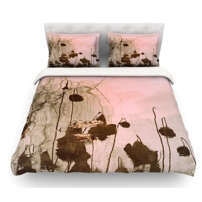 Lotus Dream by Marianna Tankelevich Flower Featherweight Duvet Cover Size: King, Fabric: Woven Polyester