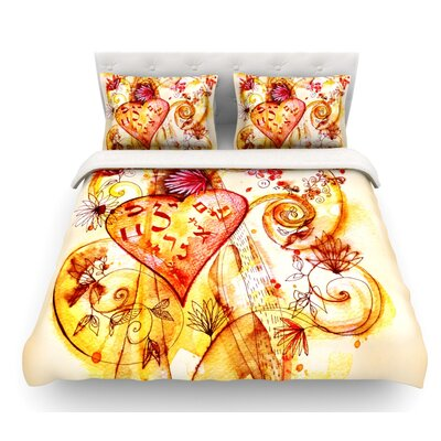 Tree of Love by Marianna Tankelevich Featherweight Duvet Cover Size: Queen
