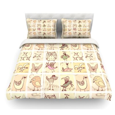 Birdies by Marianna Tankelevich Featherweight Duvet Cover Size: Twin
