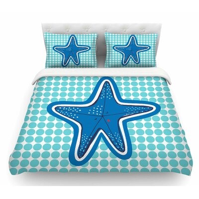 Estrella De Mar by MaJoBV Starfish Featherweight Duvet Cover Size: Queen