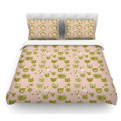 Vintage Cats by Marianna Tankelevich Featherweight Duvet Cover Size: Twin
