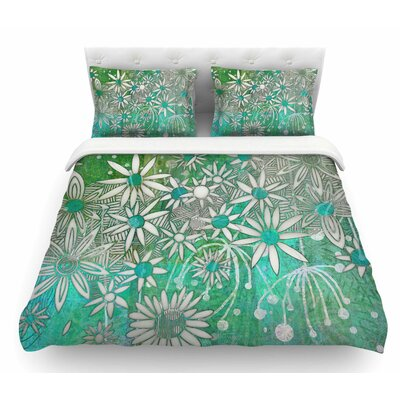 Spring Daisies by Marianna Tankelevich Featherweight Duvet Cover Size: King