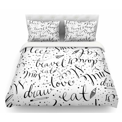 Life Must-Dos by MaJoBV Featherweight Duvet Cover Size: King