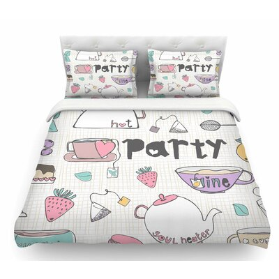 Tea Party by MaJoBV Featherweight Duvet Cover Size: Twin
