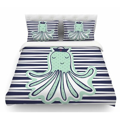 Pulpo by MaJoBV Octopus Featherweight Duvet Cover Size: Queen