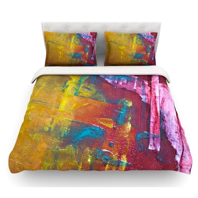 Cityscape Abstracts III by Malia Shields Featherweight Duvet Cover Size: King