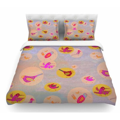 Birds Paradise by Marianna Tankelevich Abstract Featherweight Duvet Cover Size: King