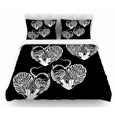 Heart by Maria Bazarova Love Featherweight Duvet Cover Size: Queen