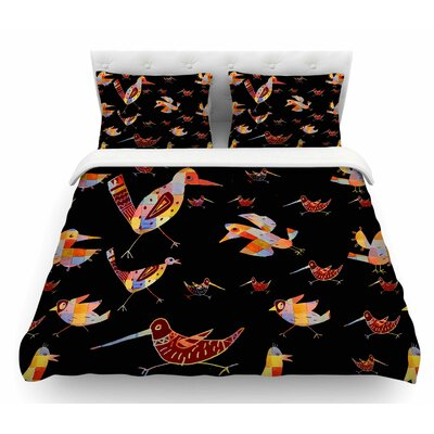 Birds by Marianna Tankelevich Abstract Featherweight Duvet Cover Size: King
