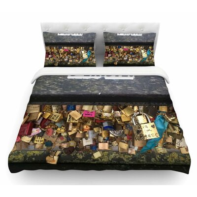 Jexiste by Luvprintz Featherweight Duvet Cover Size: Queen