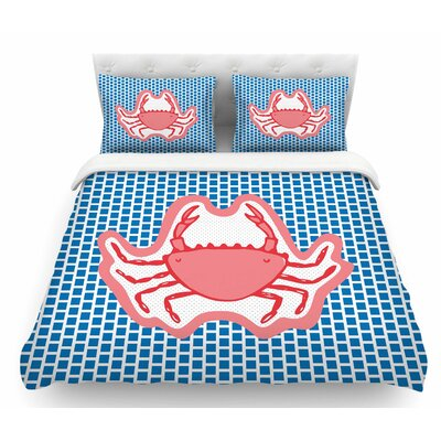 Cangrejo by MaJoBV Crab Featherweight Duvet Cover Size: King