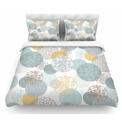 Floating Circles Design by Maike Thoma Featherweight Duvet Cover Size: Twin