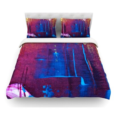 Cityscape Abstracts by Malia Shields Featherweight Duvet Cover Size: King