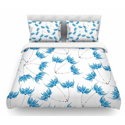 Flower Centaur 2 by Maria Bazarova Digital Featherweight Duvet Cover Size: King