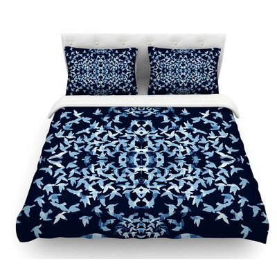 Night Birds by Marianna Tankelevich Abstract Featherweight Duvet Cover Size: Twin