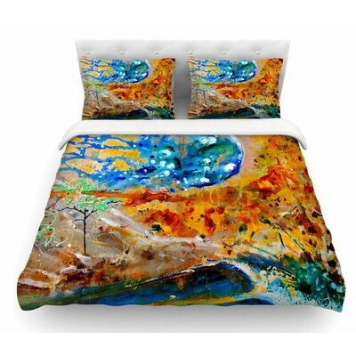The Earth Shows Its End by Nathan Gibbs Featherweight Duvet Cover Size: Twin