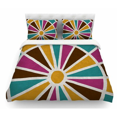 Eyes by Nacho Filella Digital Featherweight Duvet Cover Size: Queen