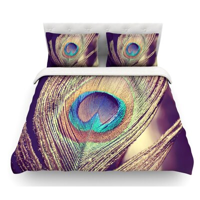 Proud as a Peacock by Nastasia Cook Feather Featherweight Duvet Cover Size: King