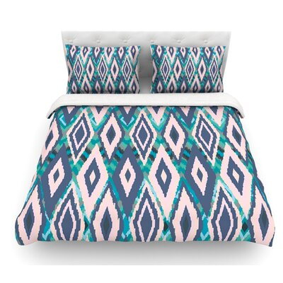 Tribal Ikat by Nika Martinez Featherweight Duvet Cover Size: Queen, Fabric: Cotton