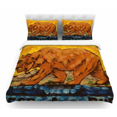 For a Public Bear by Nathan Gibbs Featherweight Duvet Cover Size: Twin