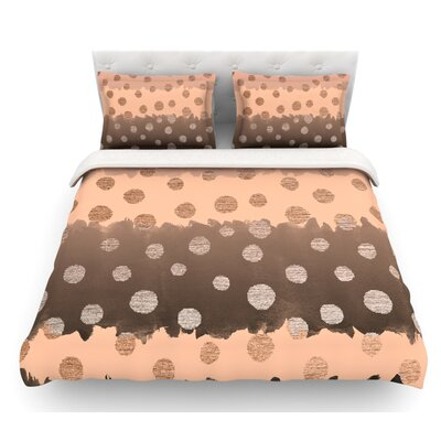 Earth Dots by Nika Martinez Featherweight Duvet Cover Size: King