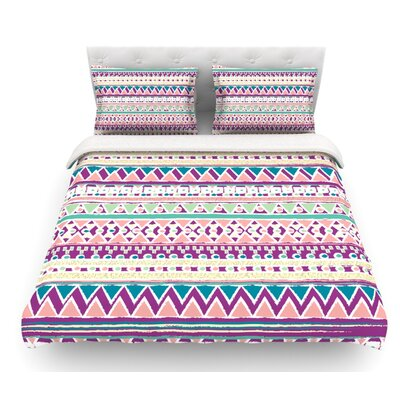 Boho Ibiza by Nika Martinez Pastel Featherweight Duvet Cover Size: Queen